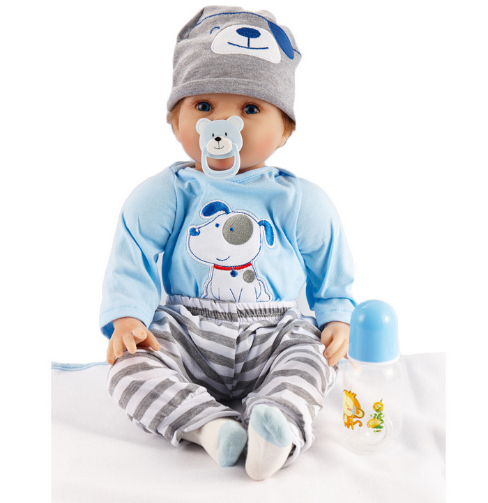 55cm Reborn Doll New born Doll Realistic Rooted Mohair Bebe Reborn Doll Soft Silicone Vinyl Baby Toy For Girl XMAS Gifts