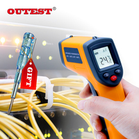 GS320 Non Contact Digital Laser Infrared Thermometer 50 360C 58 680F Themperature Pyrometer IR Laser Point