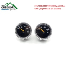 لوط 2 × 300 PSI Paintball Tank Micro Gauge-Black