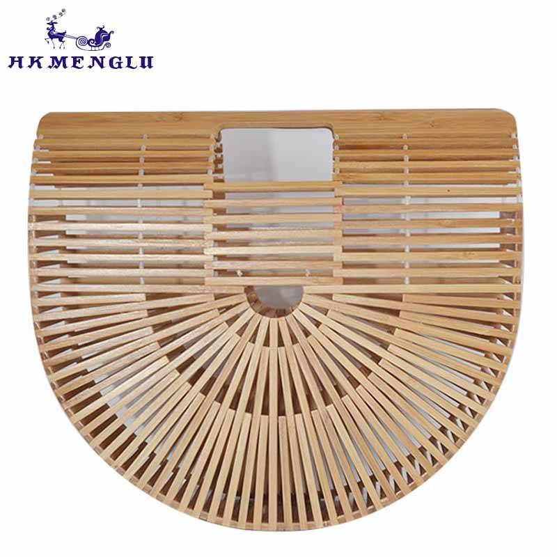 Women Handbag Travel Woman Bamboo Bag Female Handmade Woven Straw Beach Bag Ladies Bamboo Handbags bolso bambu women s handbags female travel vacation round tote bamboo handbag for ladies handmade woven straw beach bag summer women s purse