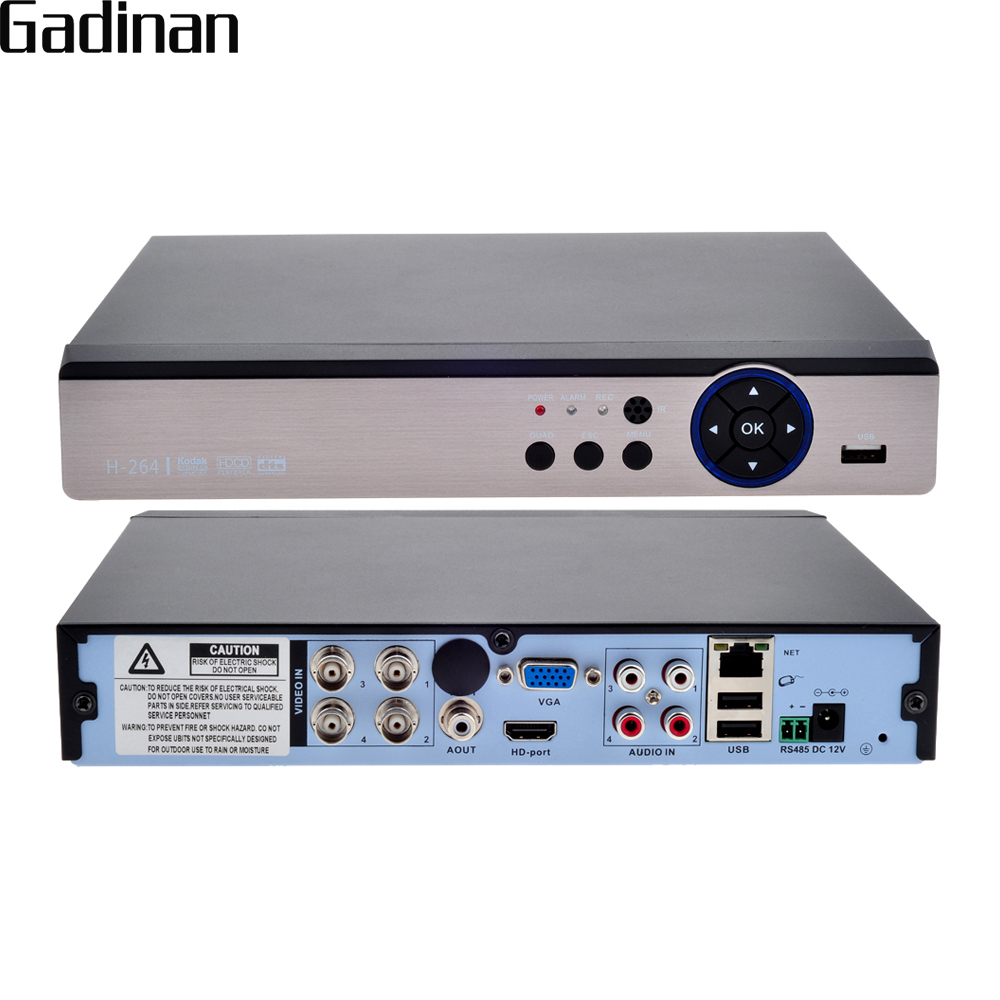 GADINAN 5in1 AHD 4CH 5MP HD DVR H 264 Home Network Video Recorder Support ONVIF for