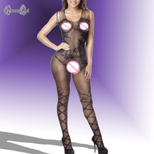 Sultry Fishnet Flower Pole Dancer Bodystocking Erotic Lingerie Babydoll Teddy Catsuit Latex Lingerie Nightwear Women Suspender