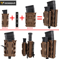 IDOGEAR Molle Pistol Mag Military Magazine Pouch Set Holster Fastmag Belt Clip plastic molle pouch Airsoft Shell Mag set