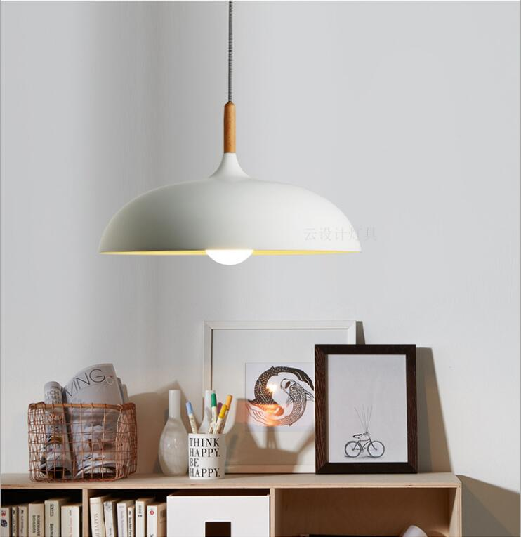 Nordic Modern Minimalist Black/white Wooden Aluminum E27 Pendant Light Fordining Room Bar Restaurant Living Room 45/60cm 1148Nordic Modern Minimalist Black/white Wooden Aluminum E27 Pendant Light Fordining Room Bar Restaurant Living Room 45/60cm 1148