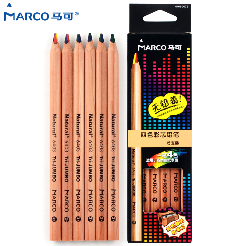 Marco Renoir Professional Soft Pastel Pencils Drawing Sketches Colored Pencils For Drawing School Lapices De Colores Stationery