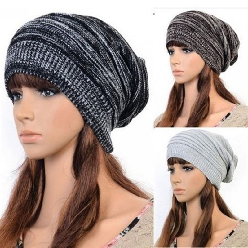 Black Silver Color Knitted Women's Beanies Hat Winter Warm Casual Solid Wool Hats For Women Caps 2016 new beautiful colorful ball warm winter beanies women caps casual sweet knitted hats for women outdoor travel free shipping