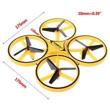 제스처 상호 작용 장난감 어린이 gi에 대 한 LED 조명과 4 축 항공기 공 압 원격 제어 스마트 시계 무인 항공기 Quadcopter
