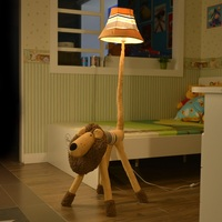 Floor Stand Lamp Decoration Fabric Handmade Animal Lion Monkey Poodle Dog Sheep Antelope Kids Floor Light for living room