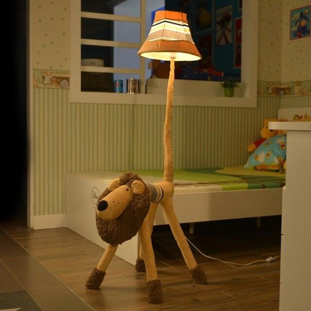 Lampe de Support au sol Décoration Tissu € La Main Animal Lion Singe