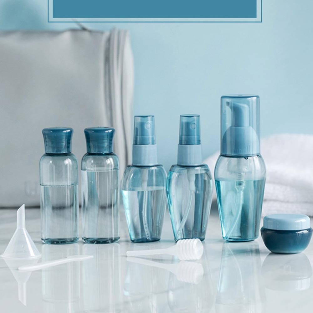 Fine Mist Spray Bottles Press Type Cosmetic Bottle Set Empty Clear Refillable Travel Containers