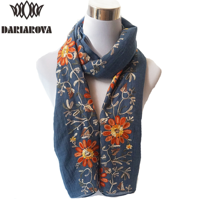 40a0d66da1d US $8.29  Big Size Floral Viscose Scarf Women Embroidered Scarf Hijab  Autumn Warm Cotton Scarves and Wraps Lady Embroidery Shawl 90*180CM-in  Women's ...