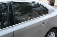 For Volkswagen VW Jetta 6 MK6 2012 2014 High Quality Stainless Steel Whole Set Window Sill Protector Cover Frame Trims 12pcs/set
