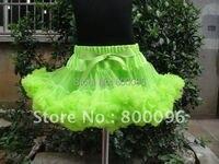 Оптовая продажа юбка-пачка зеленый юбка-пачка и Pettiskirt Лук одноцветное Обувь для девочек танец пачка домашних животных-045