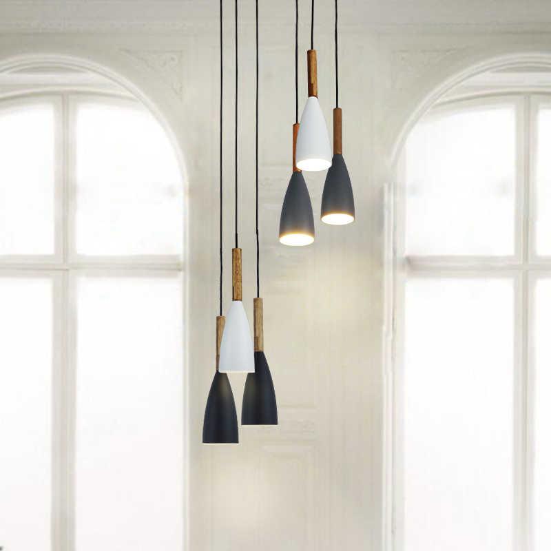 винтаж был свет искусства столовая современных висит лампа E27 Nordic кулон огней для гостиной ресторана, бар кухня подвесные светильники скандинавский светильник на кухню