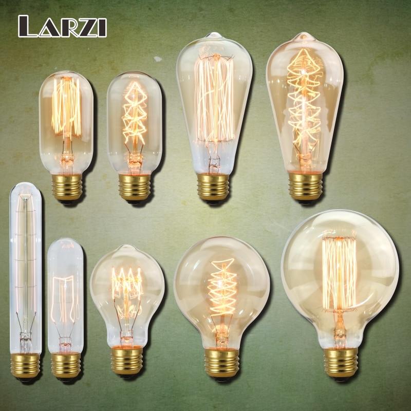 Vintage Edison bulb E27 220V lampada retro lamp Filament Incandescent Bulb 40w Edison Light For Pendant Lamp Decoration