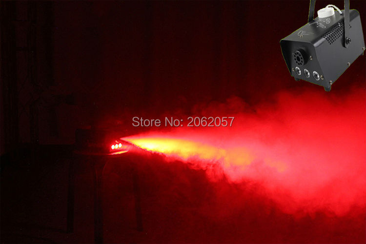 mini 400W RGB Wireless remote control fog machine pump dj disco smoke machine for party wedding Christmas stage fogger machine in Stage Lighting Effect from Lights Lighting