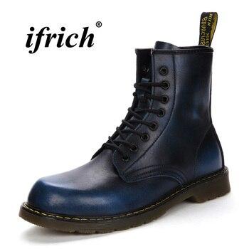Новые Крутые ботинки Marten, мужские ботинки разных цветов в британском ретро-стиле, мужские высокие рабочие ботинки, Мужская Нескользящая пов...