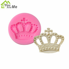 3D Silicone Crown Fondant Mold DIY Chocolate Cake Decorating Tools  Christmas Gift Mould Baking Tools 3d christmas pine cones tree silicone candle soap fondant mold cake chocolate decorating baking mould tool
