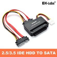 купить EN-Labs  2.5 3.5 IDE HDD to SATA Converter Adapte Card,IDE 40pin /44pin Hard Drive Disk,DVD Burner to SATA Motherboard дешево