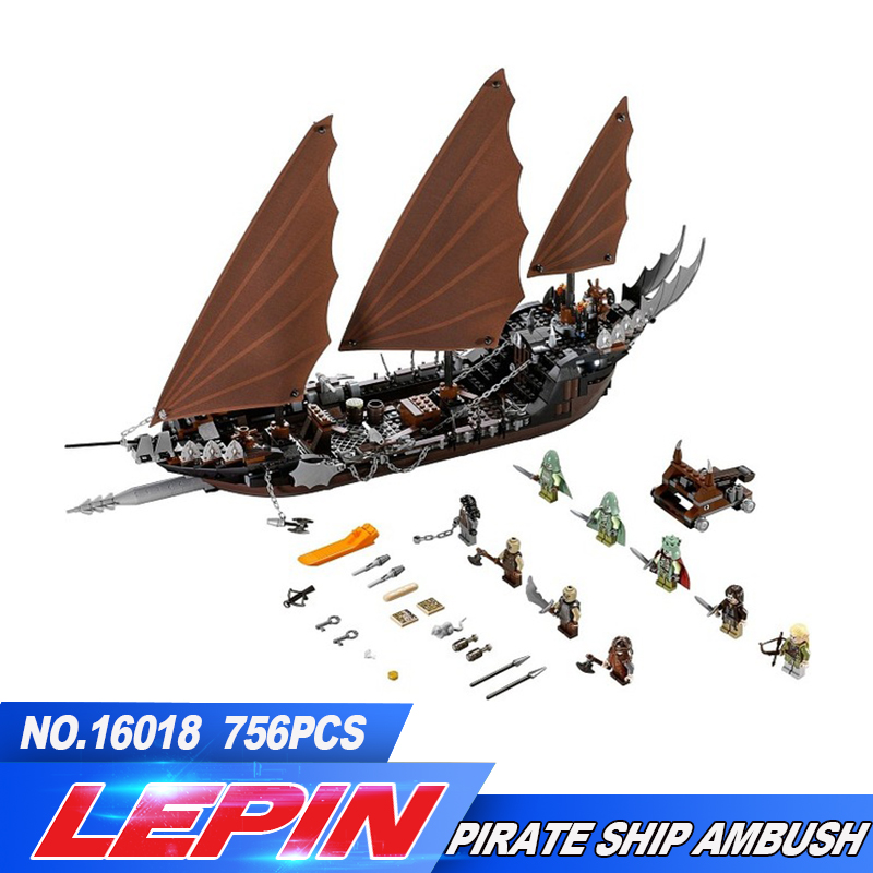 2017 New Lepin 16018 756Pcs Genuine The lord of rings Series The Ghost Pirate Ship Set Building Block Brick Toys 79008 lepin movie series ghost pirate ship 16018 756pcs building block for children toys 79008 compatible legoe pirate ship