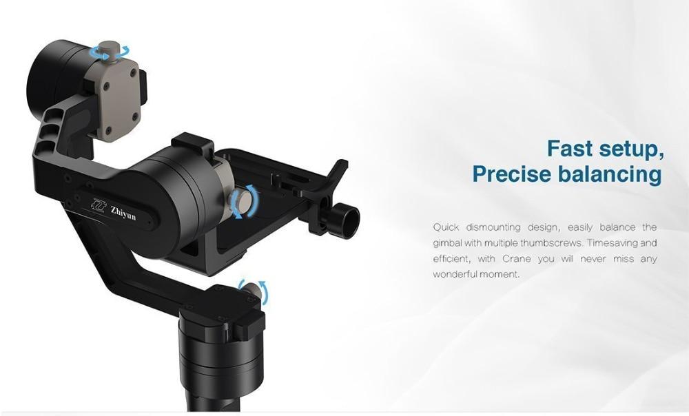 Zhiyun Gimbal Crane V2 3-Axe Bluetooth Handheld Gimbal Stabilizator - Camera și fotografia - Fotografie 4
