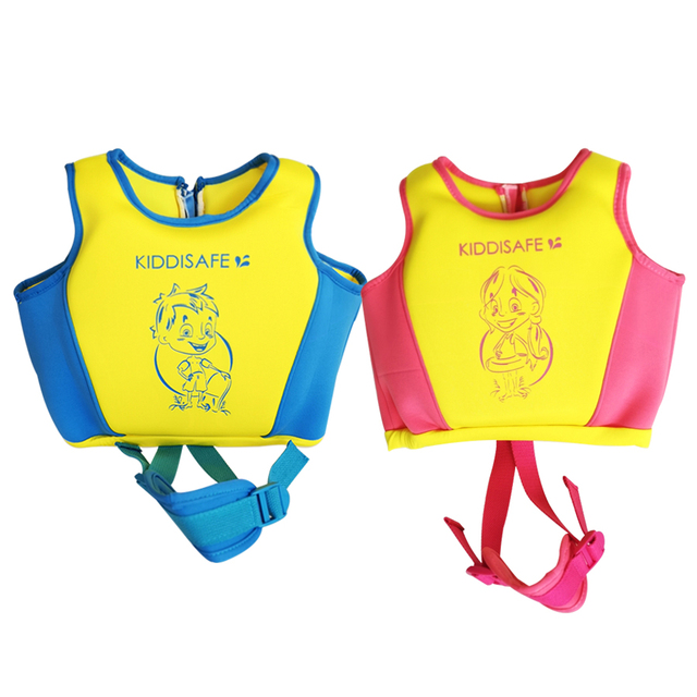 Eco-friendly PVC Patchwork Red blue boy girl With zipper safety buckle safe comfort Learn to swim vests Swimming buoyancy vest