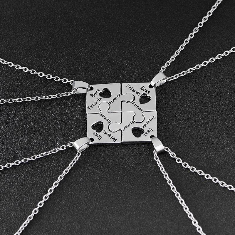 Набор ожерелий для друзей, мозаика-пазл, подвеска, колье, ювелирные изделия, BFF, ожерелье s, лучшие друзья Forever для 4