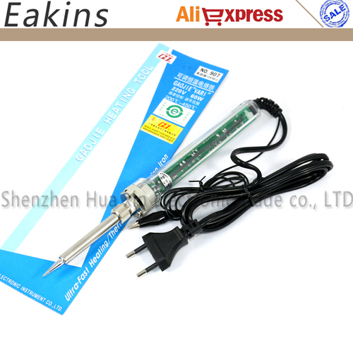 907 Adjustable Constant Temperature Lead-free Internal Heating Electric Soldering Iron Welding Tool Kit Se+ Iron Tips