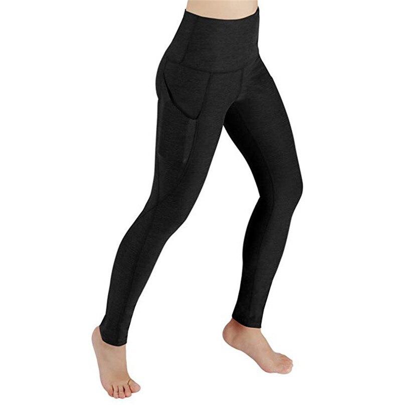 New Sexy Training Women\'s Sports Yoga Pants Leggings Pocket Gym Fitness Workout Running Tights Women Sport Leggings #F40OT23 (3)