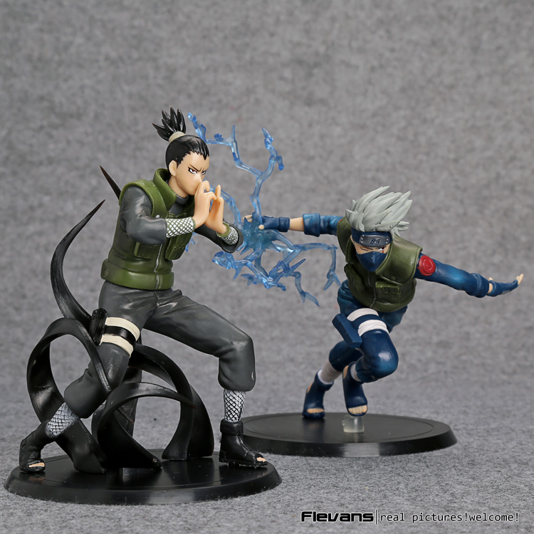 Naruto Action Figures Hatake Kakashi Nara Shikamaru Japanese Anime Figure Naruto Shippuden Movie Figure PVC Toys Naruto 2pcs/set цена