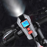 Details about  /LED Bicycle Headlight Bike Front Rear Lamp Speedometer Odometer Lamp w//Bell Horn