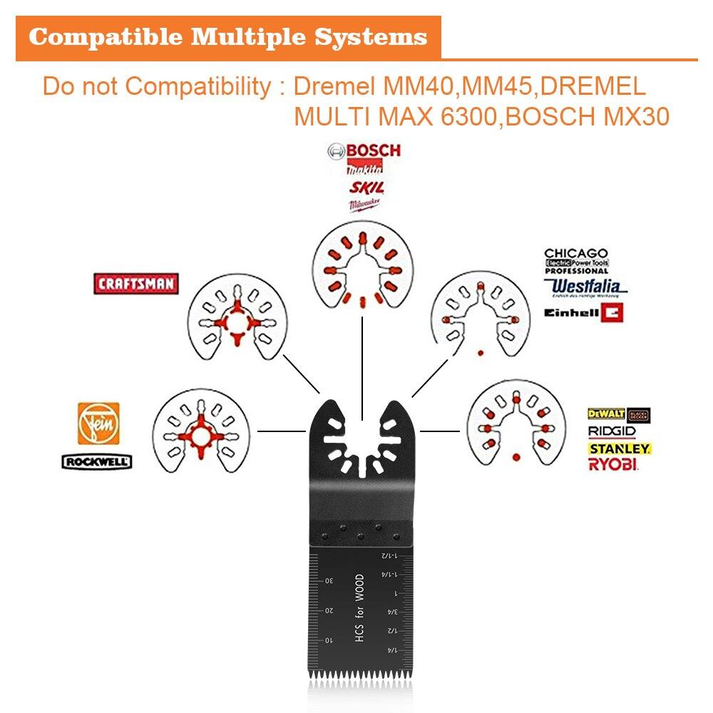 קרסים עופרות אביזרים וביגוד Multi-Function 20pcs Bi-מתכת המסור Precision Blade נדנוד Multitool להב המסור עבור PVC עץ קשה חיתוך Multi-Tools 29 (4)