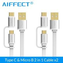 AIFFECT Type-C Fast Sync & Micro USB Cable for Nexus 5X,Nexus 6P,OnePlus 2,ZUK Z1,LG Xiaomi 4C USB-C  x 2