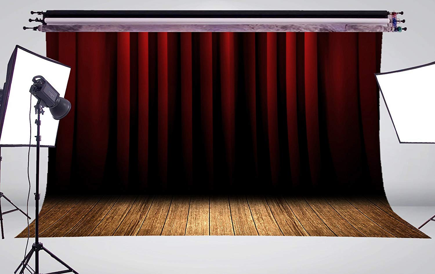 Image 3 - Stratified Black Red Stage Curtain Backdrop Photo Studio Backgrounds 5x7ft Booth Shoot Props-in Photo Studio Accessories from Consumer Electronics