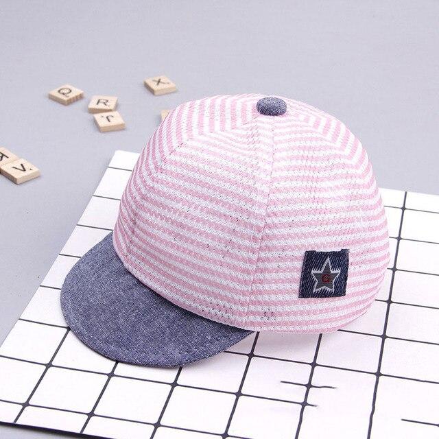 Boy's Casual Striped Soft Baseball Cap 4