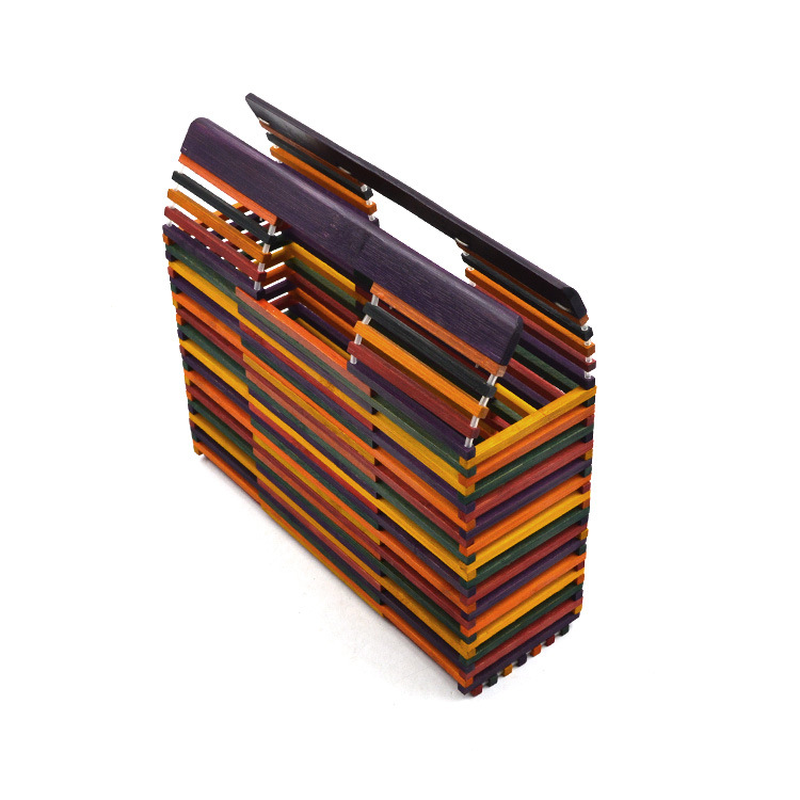 2019 new color bamboo beach bag women 39 s bag woven bamboo Europe and America beautiful single shoulder bag in Clutches from Luggage amp Bags