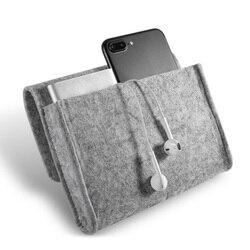 Sac cosmétique De Stockage À Domicile L'organisation Clé Pièce Paquet Mini Feutre Pochette Écouteur SD Carte Batterie Externe Données Câble Organisateur De Voyage