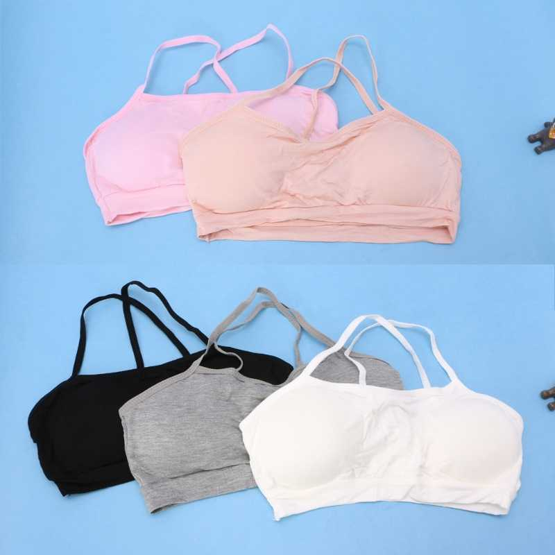 790479b5e0afd Young Girls Training Bra Soft Breathable Cotton Bra Kids Girls Underwear  Puberty Bra Teens Tops Lingerie