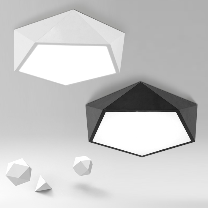 Nordic modern led ceiling light iron  diamond shaped  bedroom lights living kitchen ceiling light
