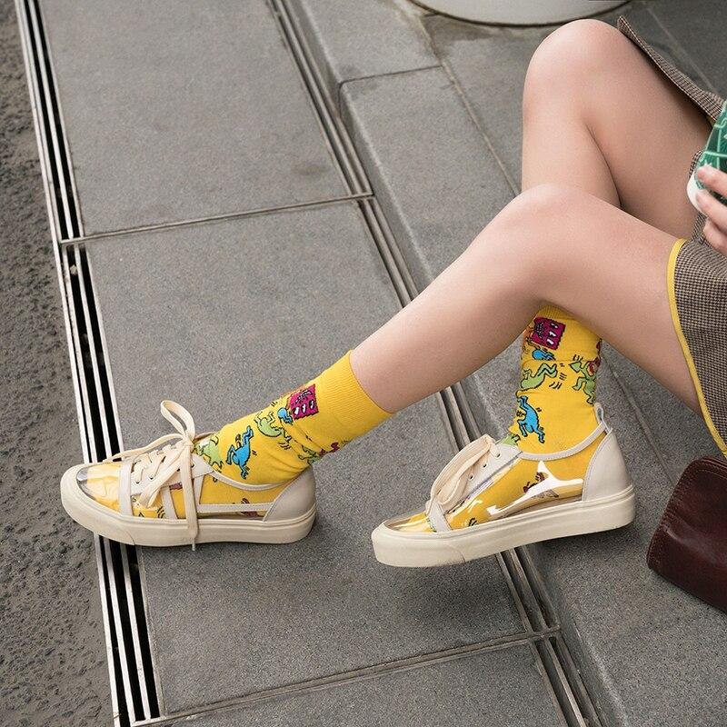 La Zapatos Aire Al Caminar beige Deporte Mujer With Casuales Pvc Marca De Zapatillas Diseño Encaje Purple Genuino Vaca rose Yellow Cuero Libre Transparente pink Tq0nXxgO