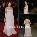 Autumn Winter Prom Crystal Beaded Chiffon A Line Long Jennifer Lopez Celebrity Dresses Evening Gown