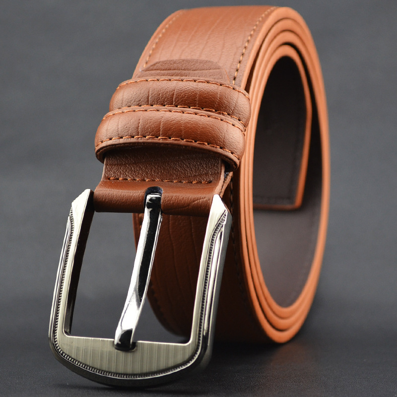 Men's Cow Genuine Leather Luxury Strap Male Belts For Men New Fashion Classice Vintage Pin Buckle Belt High Quality Belts 3.7cm