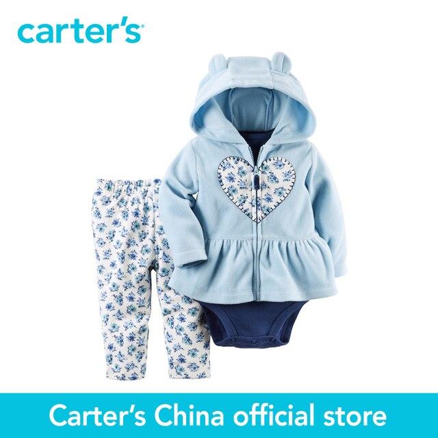 Картера 3 шт. детские дети дети Флис Кардиган Установить 121G753, продавец картера Китай официальный магазин