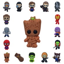1 pcs PVC Cartoon Icon Avengers Infinity War Brooch Pins Badge Anime Figure Pin Button Badge Backpack Clothes Hat Decor 9pcs set anime cartoon one piece luffy skeleton flags badge brooch acrylic badge pins