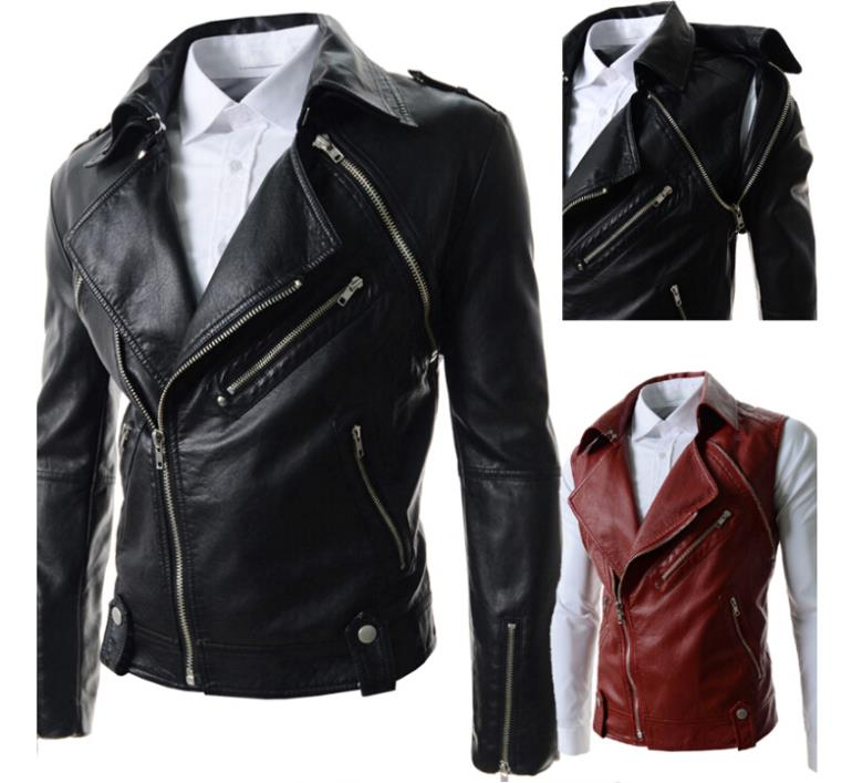 New autumn and winter personalized detachable sleeves large lapel short paragraph Slim casual men