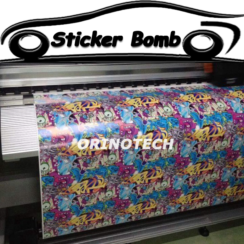 Car Styling Sticker Bomb Vinyl Wrap Bombing Graffiti Truck Motorcycle Wrapping Covers Air Free Bubble