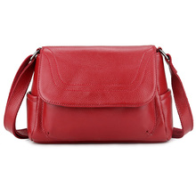 New Arrivals High Quality 100% Cowhide Leather Women Cross-body Bag Large Capacity Ladies Messenger Handbags