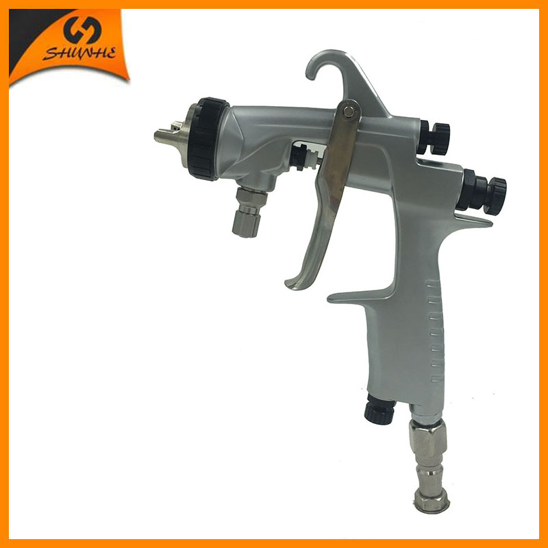 ФОТО SAT0001AB high pressure paint spray gun air brush painting car painting gun professional air spray gun stainless steel tube gun