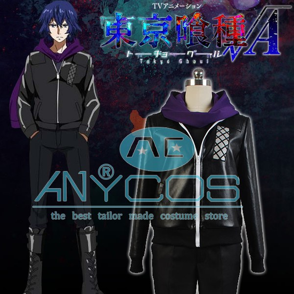 все цены на Tokyo Ghoul Ayato Kirishima Cosplay Costume For Men Black Coat Pants Hoodies Club Halloween Cosplay Costume