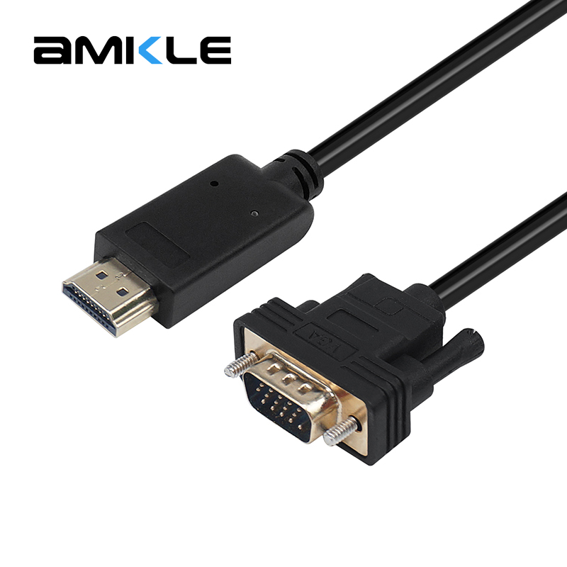 Amkle HDMI to VGA Adapter Cable HDMI Male to VGA Male 1080P Video Converter Cable for HDTV PC Computer Laptop Tablet Projector micro hdmi to hdmi v1 4 cable male to male for smartphone tablet pc